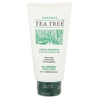 Tea Tree Oil Control For Oily-Combination Skin Facial Foam Triple Benefits Tea Tree Oil, Vitamin E, Epo 140G Product Of Thailand