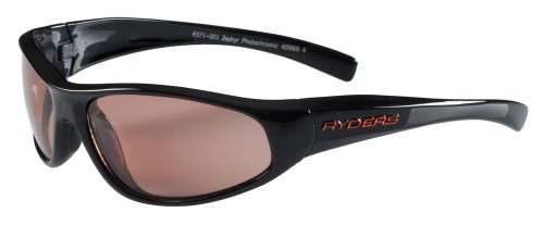Ryders Eyewear Zephyr Photochromic Sunglasses  Black Frame