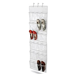 Honey-Can-Do Over The Door Clear Shoe Organizer