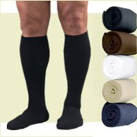 Activa Therapeutic Men's Ribbed Dress Socks 15-20 mmHg Black Large - H2563