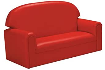 BNW FIVR100 Vinyl Toddler Sofa - Red