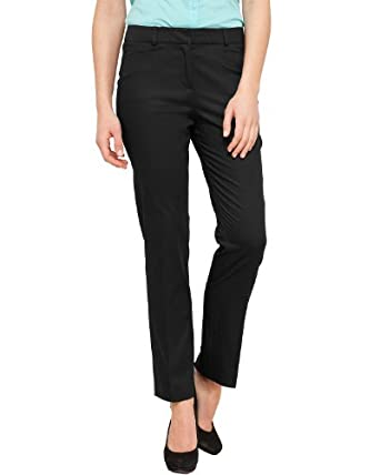 Comma Damen Hose 81.304.76.3210 HOSE, Gr. 42, Schwarz (9999 black)
