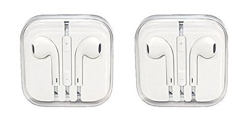 2x Earphone Earbud Headset Headphone w/ Vol Control for Apple iPhone 6 Plus 5s