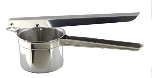 Fresh Taste Stainless Steel Potato Ricer & Masher - Fruit Juicer & Baby Food Press - Bonus Free Stainless Steel Peeler