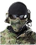【ノーブランド品】森林迷彩モデル NAVY SEALsスタイル メタル製 メッシュマスク