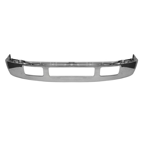 CarPartsDepot, Front Chrome Bumper Face Bar Without Fender Flare Holes Replacement, 341-18175-10 FO1002392 5C3Z17757BA (2005 Ford Excursion Fender Flares compare prices)