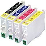 14 PK, New v7 Chip 711-714 Compatible Inks for Use With Epson D, DX, S & SX Printers. Non-Original T0711 Black x5, T0712 Cyan x3, T0713 Magenta x3, T0714 Yellow x3 (3 Full Sets + 2 Black)