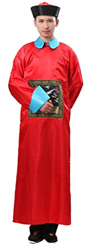 Chinese Qing Dynasty Men's Eunuch Costumes Dress Halloween Cosplay