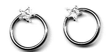 Body Accentz™ Nipple Ring Star Captive Bead