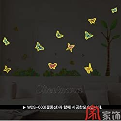 Home Decor Mural Art Wall Paper Stickers - Nightlight butterfly WID-201