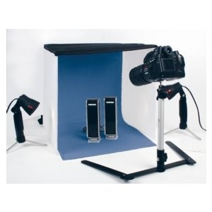 mini photo studio including lights stands tripod electronics. Black Bedroom Furniture Sets. Home Design Ideas
