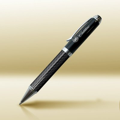 Cadillac Carbon Fiber Twist-Action Rollerball Pen