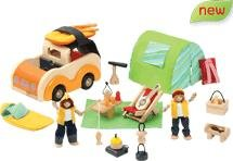 Voila Wooden Doll's Camping Set