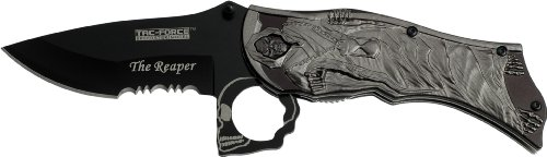 Tac Force Tf-787Gy Assisted Opening Folding Knife, 4.5-Inch Closed