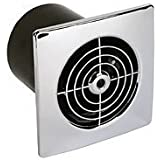Manrose 100mm Low Profile Extractor Fan/ Timer - Chrome