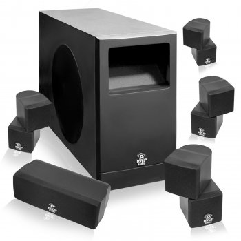 Pyle 5.1 Home Theater Passive Audio System Four Satellite, Center Channel& 10''Subwoofer