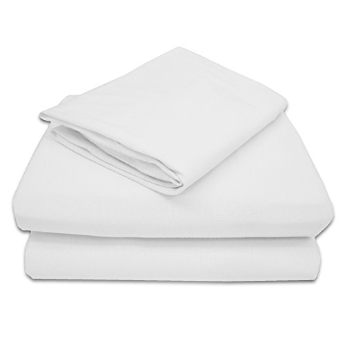 TL Care 100% Jersey Cotton 3 Piece Toddler Sheet Set, White (Toddler Bed Sheet Sets compare prices)