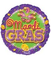 "18"" Mardi Gras Party Balloon - 1"