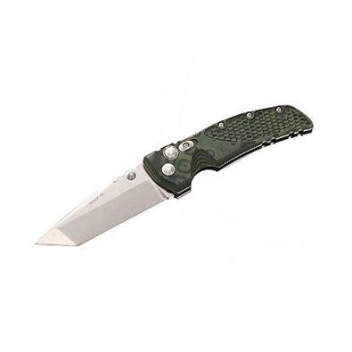 "New Hogue G-10 Frame 4"" Tanto Blade Tumble Finish G-Mascus Green High Quality Folding Knife"