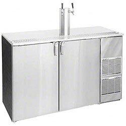 "60"" Stainless Steel Top Two Keg Direct Draw Beer Dispenser - Glastender Kc60-R1-Ss(Lr)"