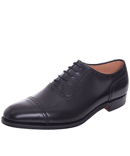 Cheaney and Sons Fenchurch Leather Oxford Shoes 44 Nero