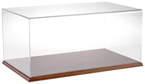Plymor Brand Clear Acrylic Display Case with Hardwood Base, 20