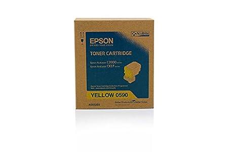 Epson Aculaser CX 37 DTNF - Original Epson C13S050590 - Cartouche de Toner Jaune AcuBrite - 6000 pages