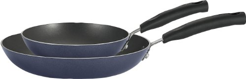 T-fal C157S2 Signature Nonstick Expert Easy clean Interior Thermo-Spot Heat Indicator Dishwasher Safe PFOA Free Oven Safe 8-Inch and 10-Inch Fry Pan / Saute Pan Cookware Set, 2-Piece, Blue