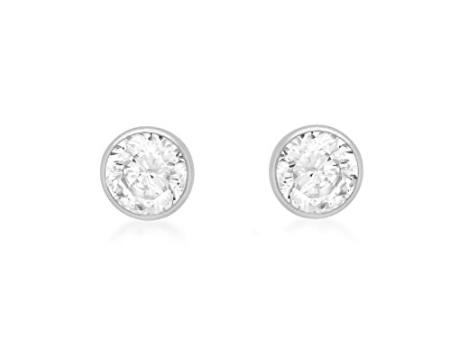 Carissima-Gold-9ct-White-Gold-5mm-Round-Cubic-Zirconia-Stud-Earrings