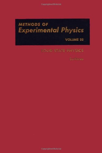 Solid State Physics: Surfaces. Methods Of Experimental Physics Volume 22