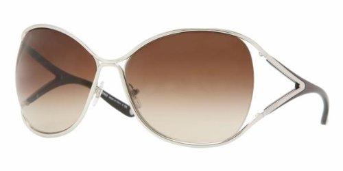 Versace Für Frau 2111 Silver / Brown Gradient Metallgestell Sonnenbrillen