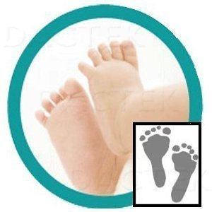 """Deluxe"" Baby Inkless Footprint Kit with White Papers"