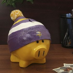 Minnesota Vikings Official NFL 13 inch x 10 inch Piggy Bank Large Hat by Forever Collectibles 736075