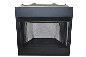 Sure Heat VFBC36A Surefire Steel Constructed Vent-Free Firebox with Heat Deflecting Mantel Guard and Screen, 36-Inch, Black