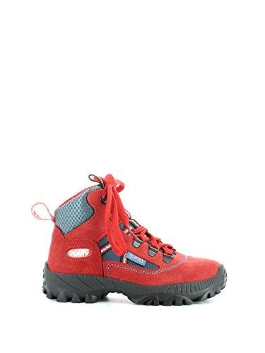 Scarponcino da trekking in camoscio rosso N. 30