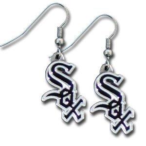 MLB Dangling Earrings - Chicago White Sox Logo