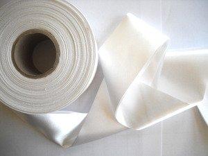 25 Yds Bulk White Satin Blanket Binding 2 Inch