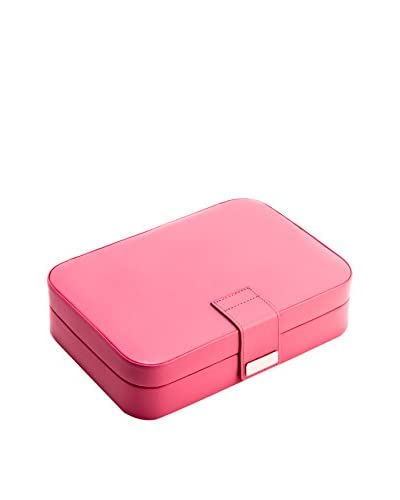 Bey-Berk Pink Leatherette 24 Section Jewelry Case As You See