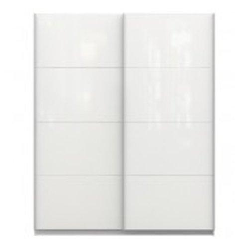 Chelsea - Armario de 2 puertas correderas, blanco brillante