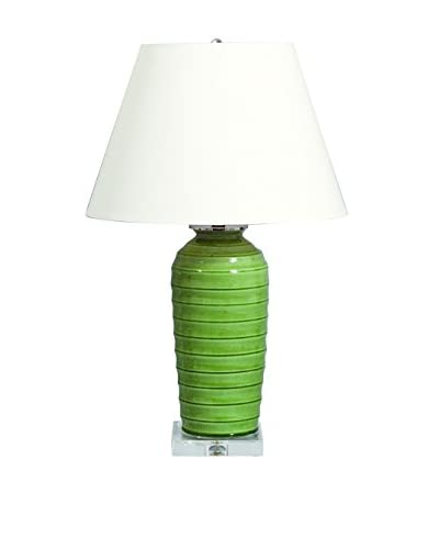 City Scape Playa Palm Green Lamp, Palm Green