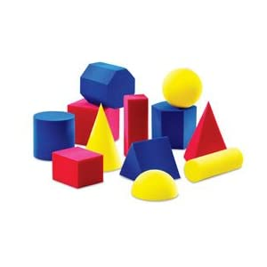 Learning Resources Everyday Shapes Activity Set; Everyday shapes; Soft foam; Geometric shapes