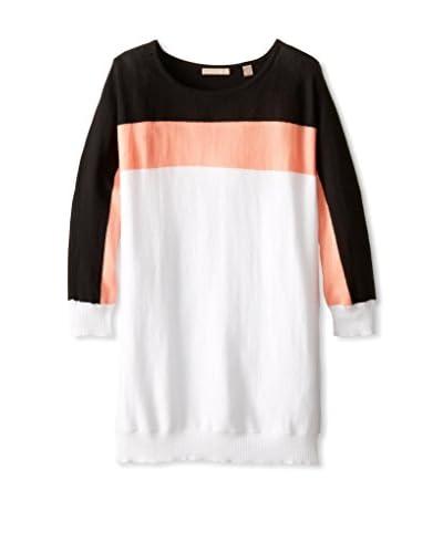 Cotton Addiction Women's Crop Sleeve Stripe Top