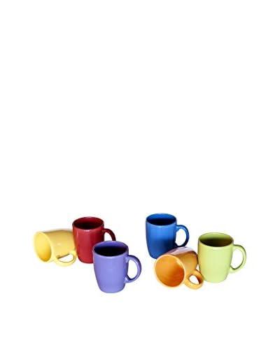 Enjoy Home Set Tazza Colazione 6 Pezzi Mug Trendy Tab Multicolore