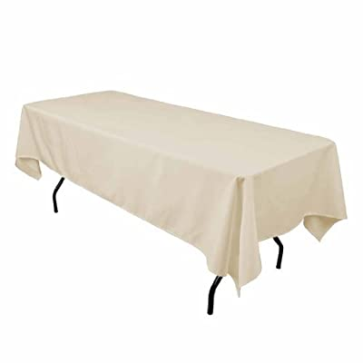 LinenTablecloth 60 x 102-Inch Rectangular Polyester Tablecloth Dusty Rose