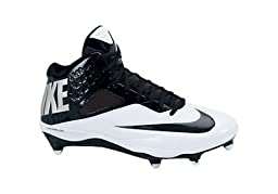 Men\'s Nike Lunar Code Pro 3/4 Detachable Football Cleat Black/White Size 10.5
