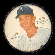 1962 Salada Tea Coins (Baseball) Card# 129 John Buzhardt Of The Chicago White Sox Exmt Condition
