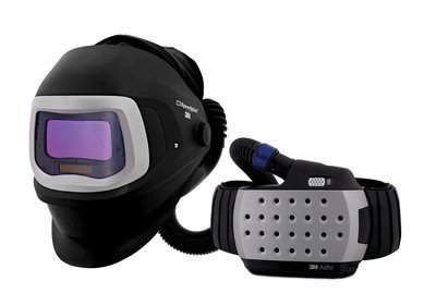 3M Adflo Powered Air Purifying Respirator Organic Vapor/Acid Gas and High Efficiency System with Speedglas Welding Helmet 9100 FX-Air, 26-3301-20SW, SideWindows and Auto-Darkening Filter 9100X, Shades 5, 8-13