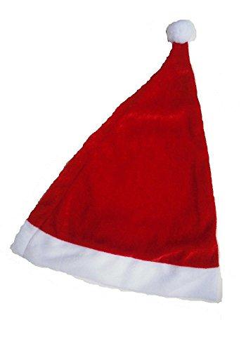 サンタ 帽子 大人 子供 赤い トナカイ 帽 コスプレ 衣装 クリスマス コスチューム Xmas (成人, 1枚)