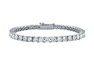 Diamond Tennis Bracelet : Platinum - 5.00 CT Diamonds