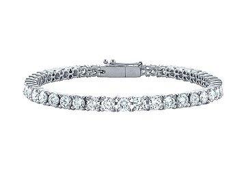 Diamond Tennis Bracelet Platinum - 5.00 CT Diamonds